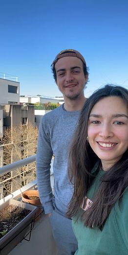 Timon et sa compagne à l'Oustal de Paris.