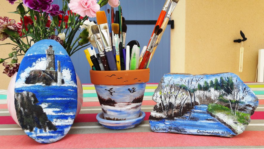 Ardoise, lauze, galet, pot de fleurs, des supports originaux pour réaliser des tableaux