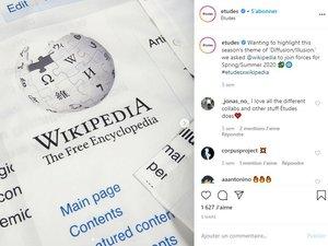 Etudes présente une collaboration avec Wikipédia pour la saison printemps-été 2020.