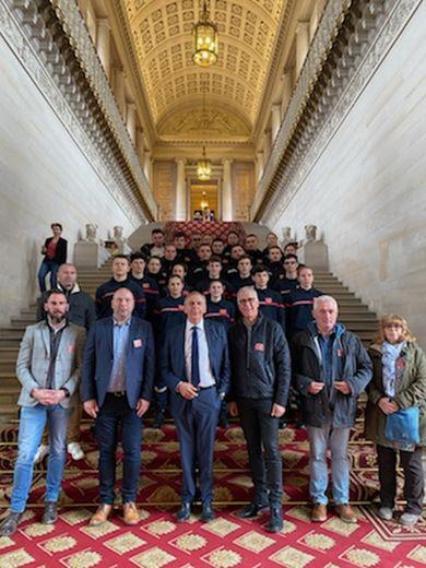 La délégation du lycée d'Aubin était attendue au Sénat par le Sénateur Jean-Claude Luche.