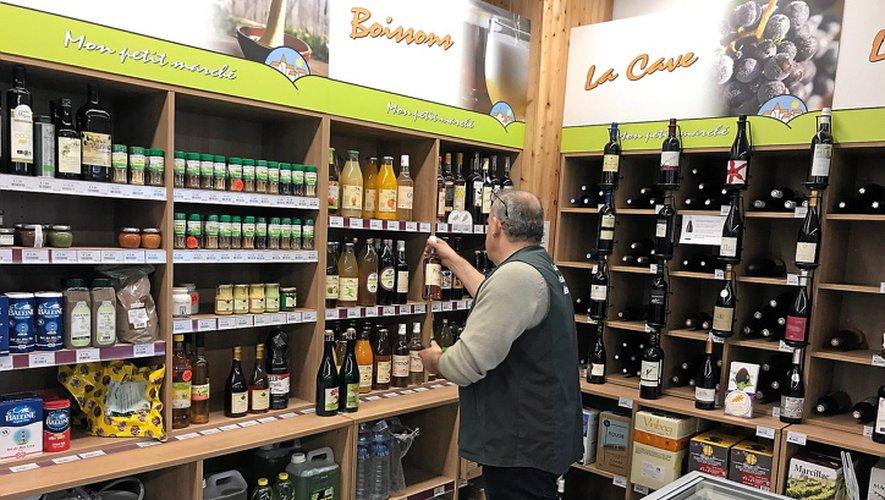 Le magasin Unicor de Laissac. La vente de produits alimentaires en circuit court est un attrait pour la clientèle.