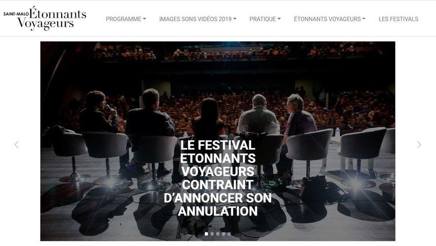 Le festival international de littérature et de cinéma Etonnnants Voyageurs, qui devait se tenir du 28 mai au 1er juin à Saint-Malo pour sa 30è édition, a annoncé son annulation