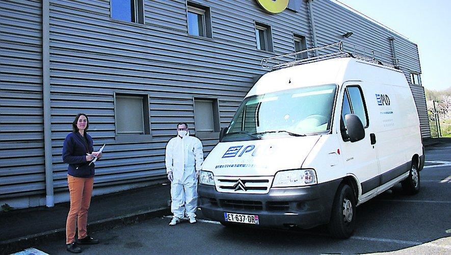 La société albigeoise PLD est intervenue hier à la plateforme courrier d'Aubin. / BHSP.