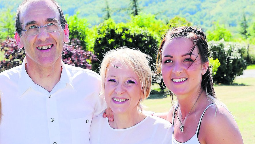 Jacques Scotti, son épouse Nicole et sa fille Mélina.