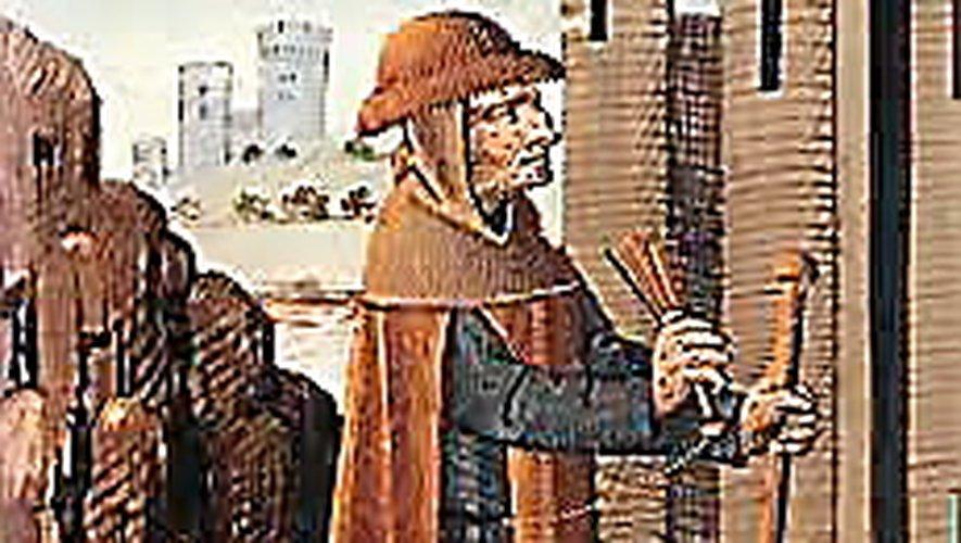 Lépreux annonçant son passage avec sa crécelle.