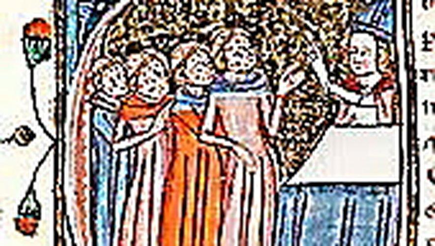 Les victimes de la lèpre bénies par l'évêque.