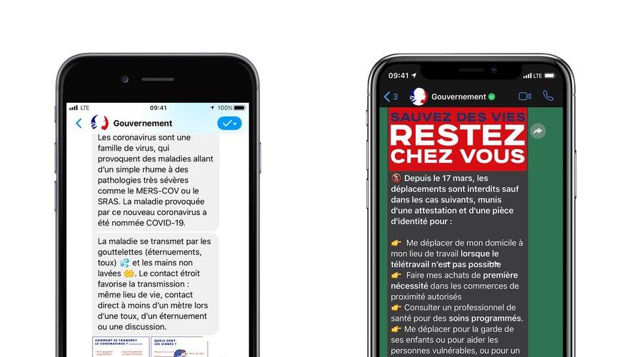 Le gouvernement français lance, en collaboration avec Facebook, deux bots sous Messenger et WhatsApp.