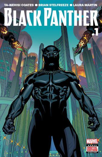 """Ta-Nehisi Coates' """" Black Panther (2016) #1"""" est l'un des comics proposé gratuitement sur l'application Marvel Unlimited jusqu'au 4 mai."""