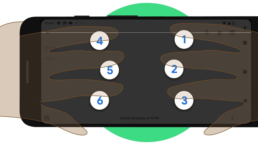 Google a annoncé un clavier digital en braille sous Android.