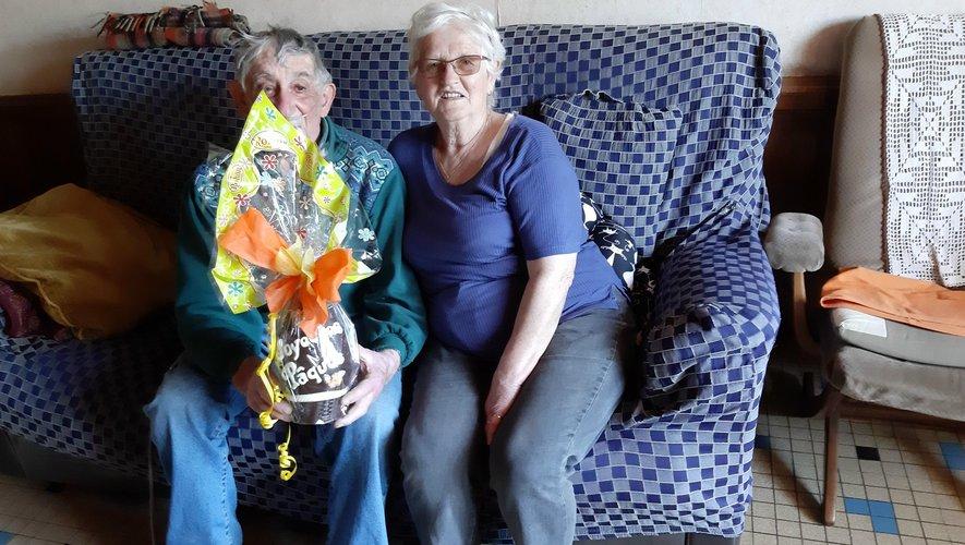 Un peu de bonheur pour les aînés du club à l'occasion de Pâques