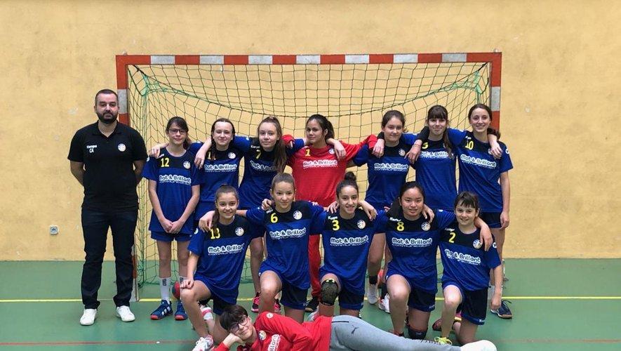 L'équipe des moins de 15 ans féminines.