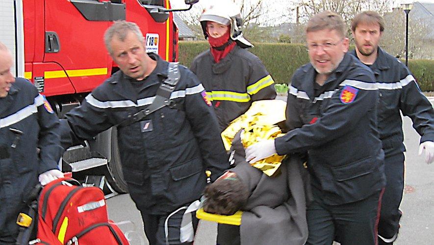 Les sapeurs-pompiers rignacois demandent à chaque personne d'appliquer  les gestes barrières et de rester chez eux.