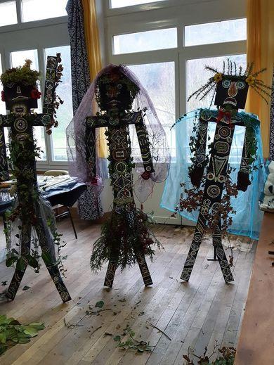 Les 3 totems- épouvantails Selvois