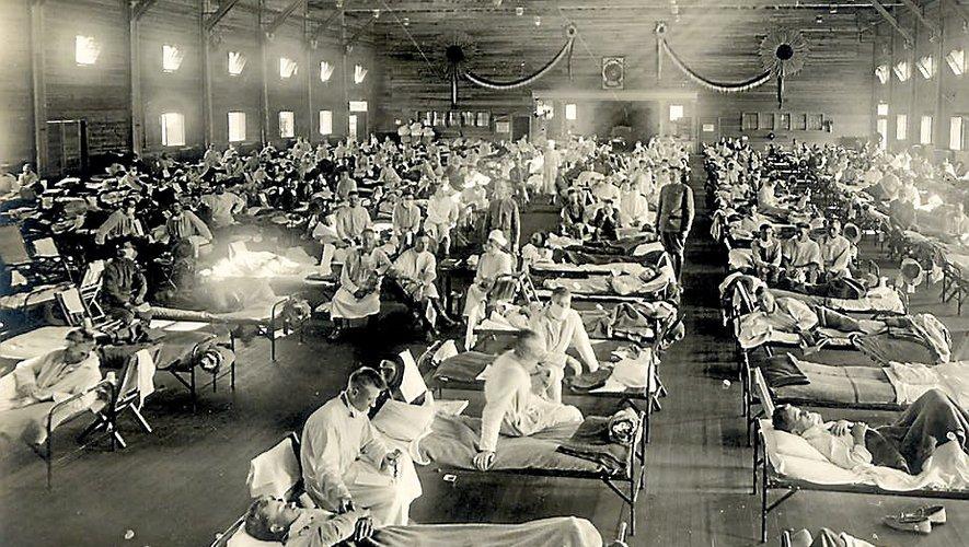 Un hôpital d'urgence au Kansas. Cet état américain est l'un des foyers d'origine de l'épidémie.