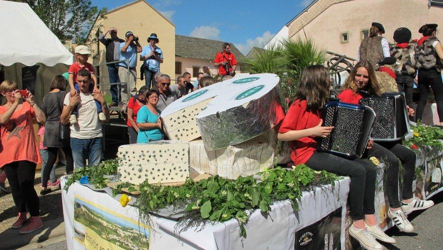 Le roquefort était mis à l'honneur lors de cette fête ainsi que les produits locaux.