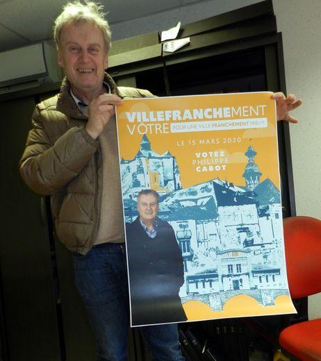 Philippe Cabot conduisait  la liste « Villefranchement vôtre », qui a totalisé 5,73 % des voix.
