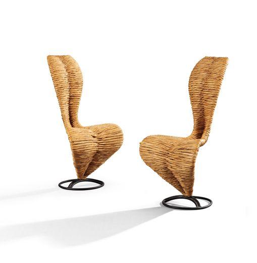 Tom Dixon Paire de chaises S, Modèle créée en 1991 Estimation : 7.000-10.000€