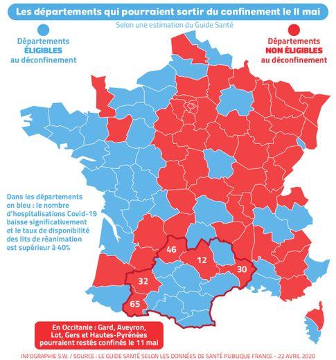 L'Aveyron pourrait rester confiné après le 11 mai.