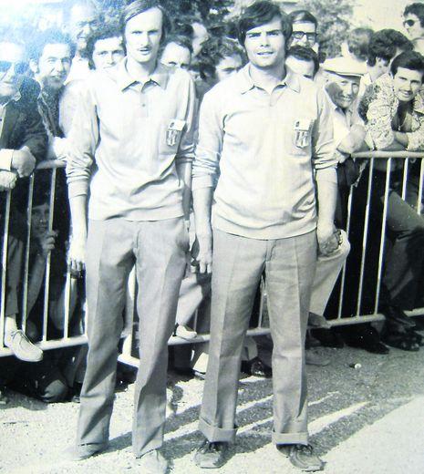 Jean-Claude Catusse et René Sénézergues (Trépalou), champions de l'Averyon en 1971 et quarts finalistes au championnat de France.