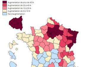 Mortalité en hausse de 12,3 % en Aveyron depuis le 1er mars