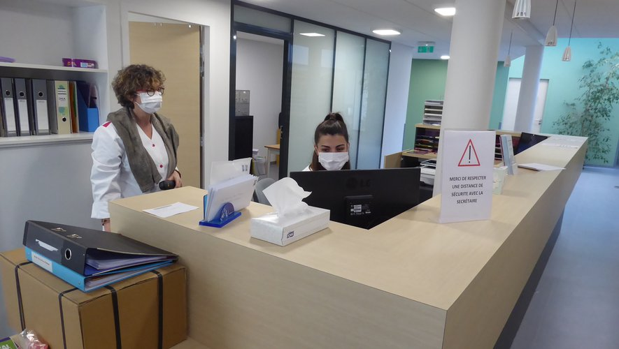 La nouvelle salle d'accueil du cabinet médical.