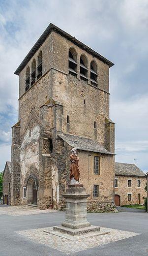 Le clocher de l'ancienne église.