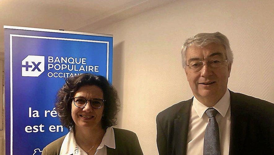 Alain Condaminas, directeur général et Catherine Mallet, présidente de la Banque populaire Occitane.