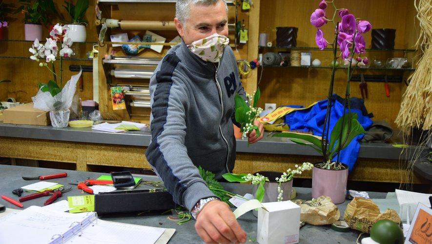 Christophe Bec, fleuriste en centre-ville de Rodez.