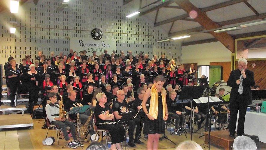 La chorale « Résonance » lors d'un précédent concert.
