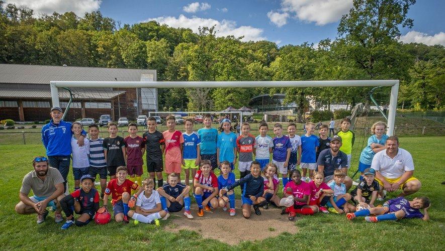 Les jeunes pousses de l'école de foot.