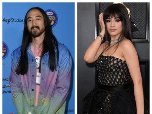 Le DJ Steve Aoki (G) et la chanteuse Camila Cabello (D) participeront à la série de livestreams 'Happy at Home: #OneCommunity Live.'