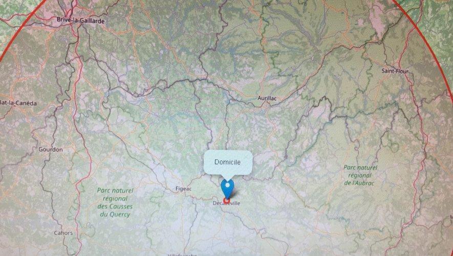 L'Aveyron dans son intégralité, mais aussi les départements limitrophes concernés par les nouvelles règles de déplacement.