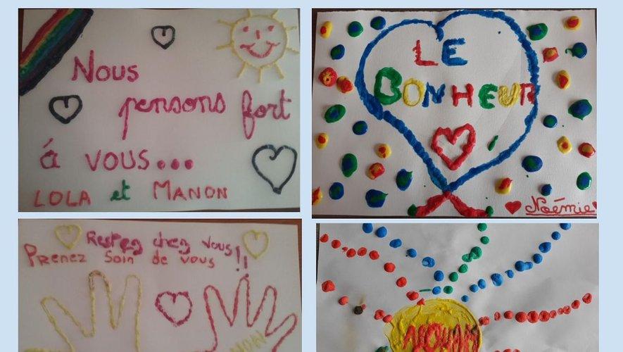 Des messages d'amour adressés aux Aînés de la commune