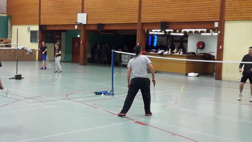 La section badminton avait ses adeptes tous les mercredis soir à la salle des fêtes
