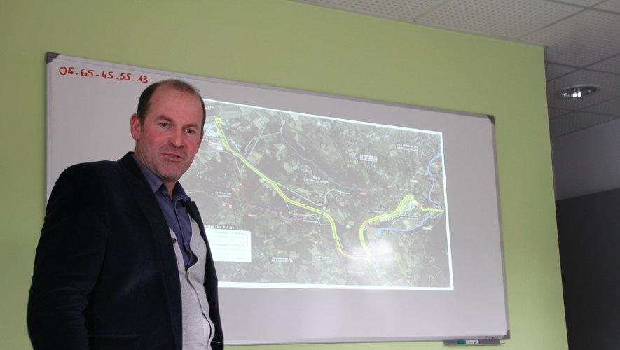 André At confirme une accélération ds reprises des chantiers routiers dans l'ouest Aveyron.