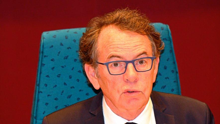 Christian Teyssèdre, hier  lors du conseil municipal.