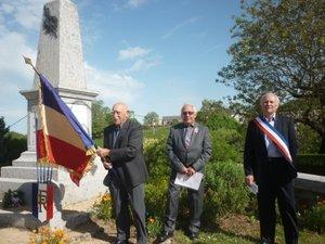 Commémoration au monument aux morts de St Gervais