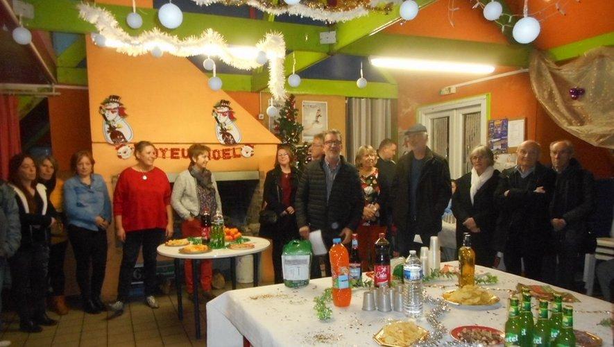 L'équipe du conseil d'administration de Chorus lors du dernier sapin de Noël.