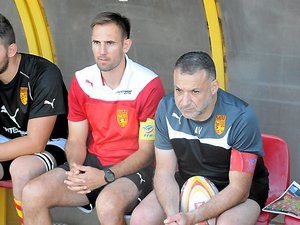 Juan Lamprecht (au centre) avec les couleurs du Stade Rodez Aveyron.