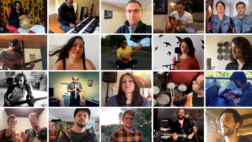 Une vingtaine de musiciens aveyronnais ont participé au projet.