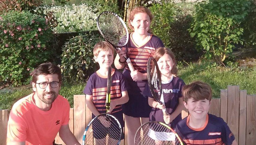 Une famille passionnée qui respire le tennis du lundi au dimanche.