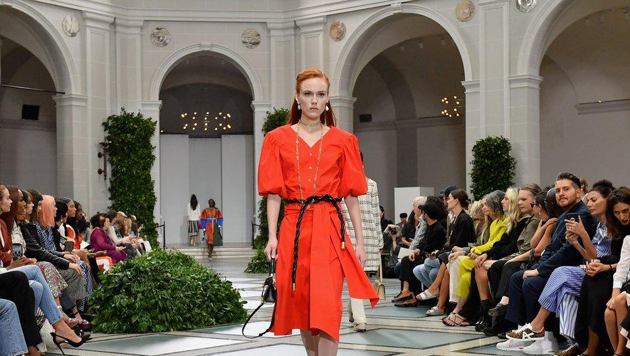 Le défilé Tory Burch lors de la Fashion Week de New York printemps/été 2020, le 8 septembre 2019.