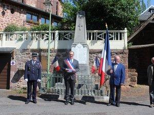 La commémoration à Canet-de-Salars qui a suivi celle de Saint-Laurent-d'Olt.