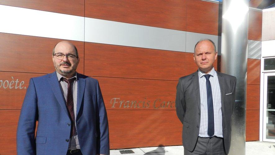 Jean-Noël Taché (à droite), avec son adjoint Christophe Maucourant.
