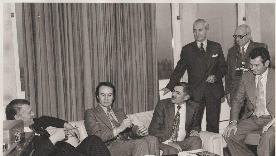 Les membres de l'association à Londres, en 1973.