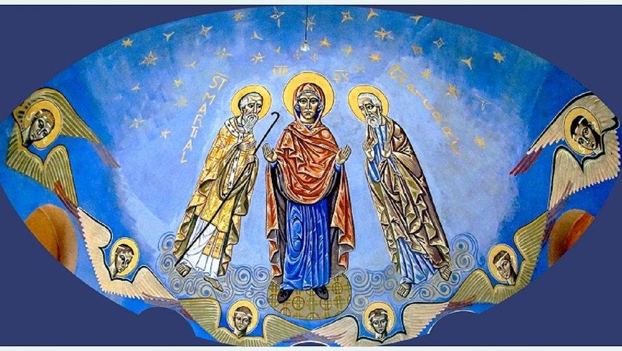 Fresque de l'église de Lagarde.