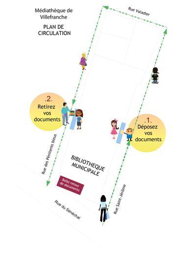 Le nouveau plan de circulation pour la médiathèque de Villefranche.