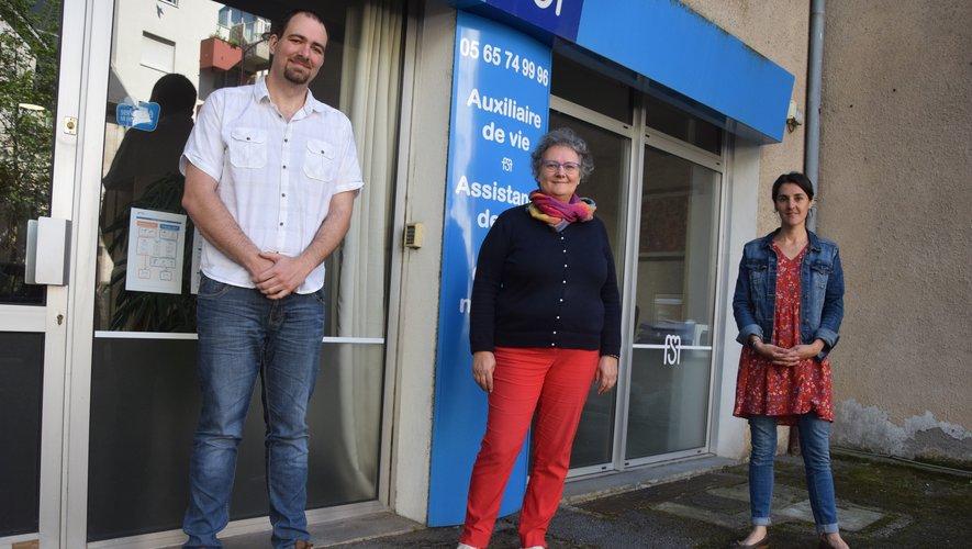 Ludovic Grandroques, assistant de direction, Catherine Hamel, gérante et Virginie Foissac, responsable de secteur.
