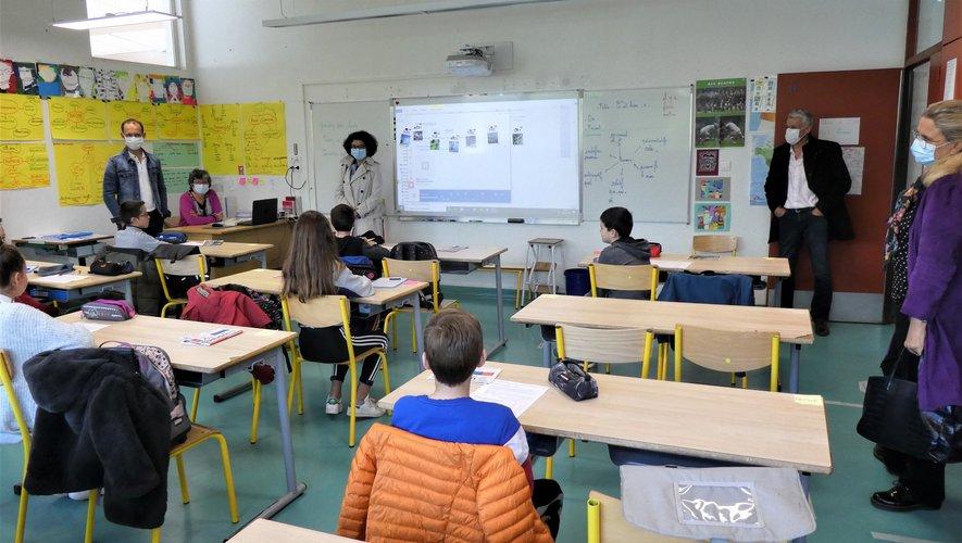 Visite dans une classe.