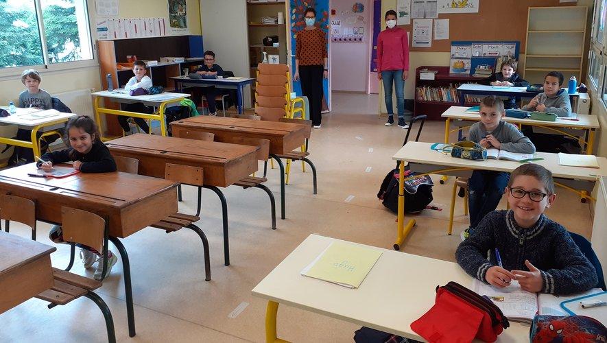 Le protocole sanitaire est scrupuleusement respecté dans les salles de classe.